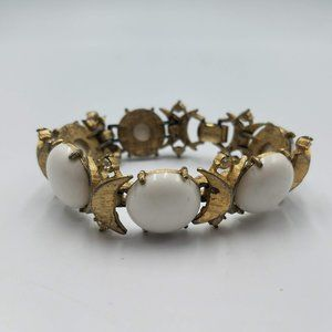 Vintage Sarah Coventry Gold Tone Beaded Bracelet